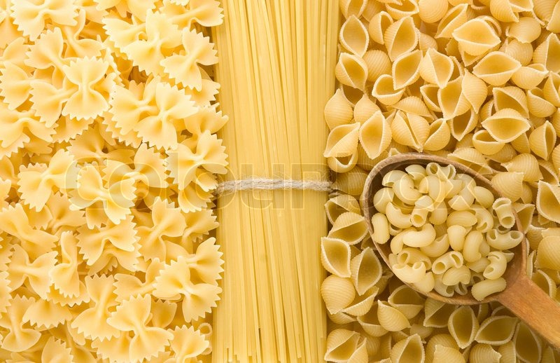 Raw Pasta And Wood Spoon Image 4676348 on Us My Healthy Plate