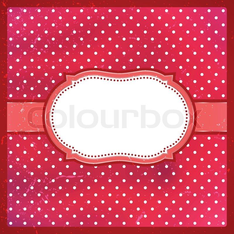 Vintage polka dot frame | Stock Vector | Colourbox