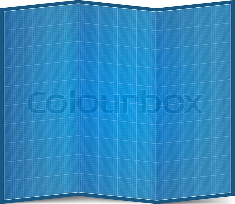 Folded blueprint paper stock vector colourbox malvernweather