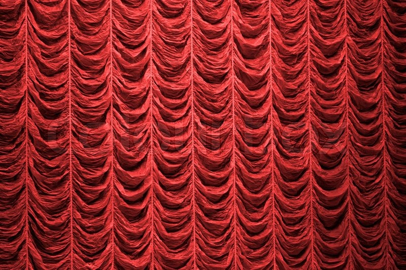 Red Curtain Background Texture Stock Photo Colourbox