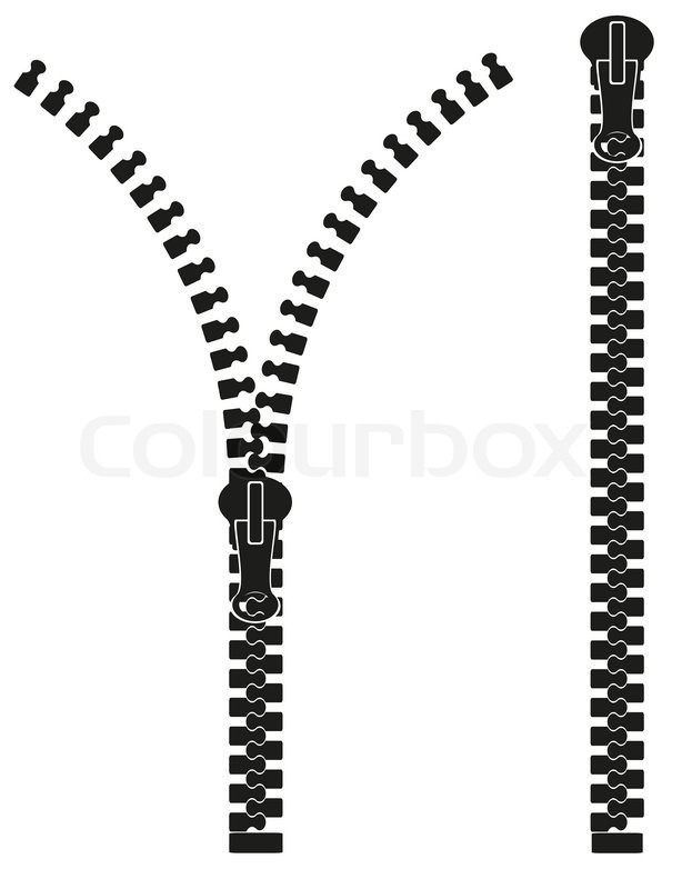 zipper silhouette vector illustration stock vector colourbox rh colourbox com zipper vector free zipper vector drawings