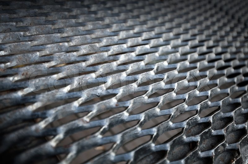 Background texture of old metal ground grid | Stock Photo ...