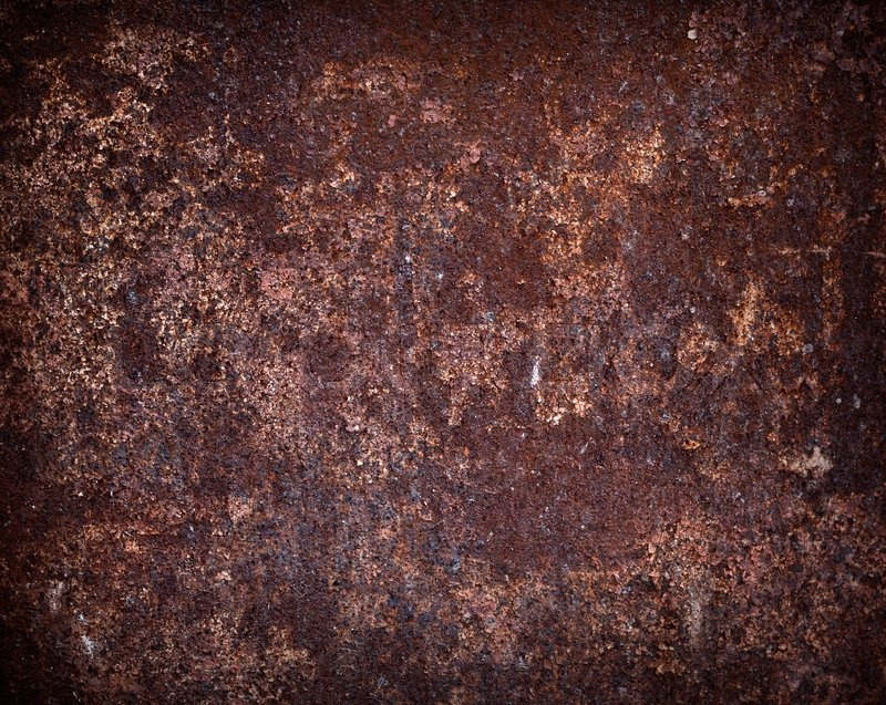 Rusted Dark Brown Metal Wall Texture Stock Photo Colourbox