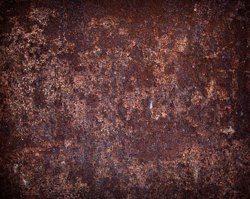 Rusted Dark Brown Metal Wall Texture
