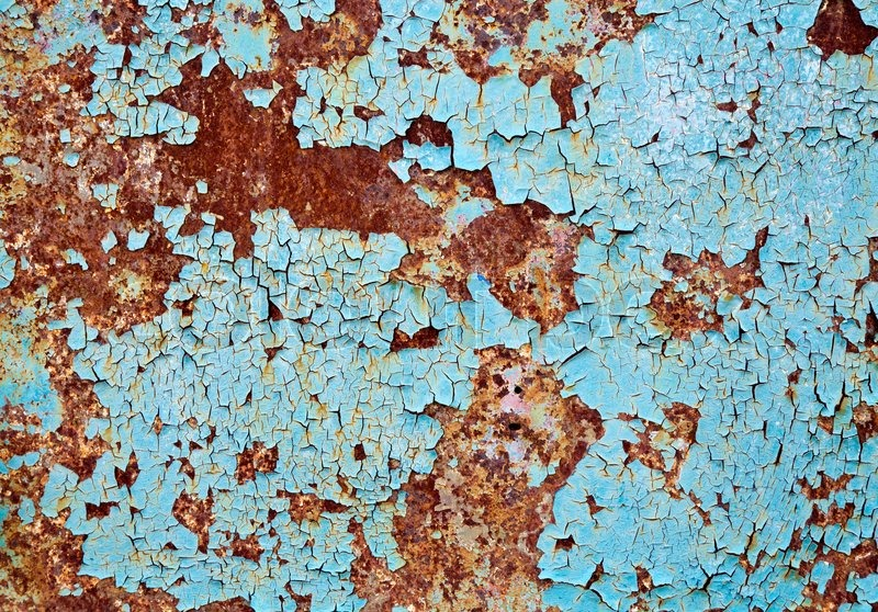 Rusted Tin Walls : Rusted metal wall background texture stock photo colourbox
