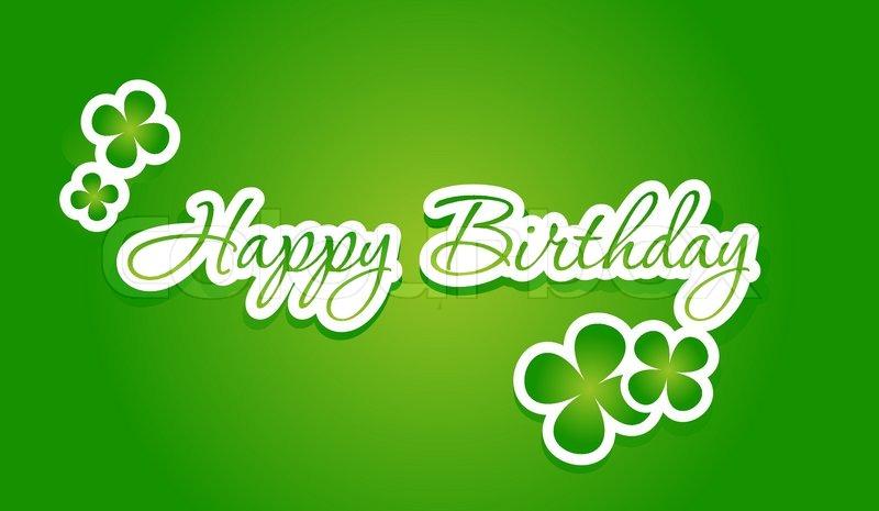 Alles Gute Zum Geburtstag Schriftzug Vektorgrafik Colourbox