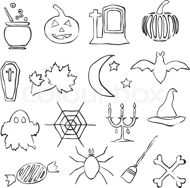 Doodle halloween images | Stock Vector | Colourbox