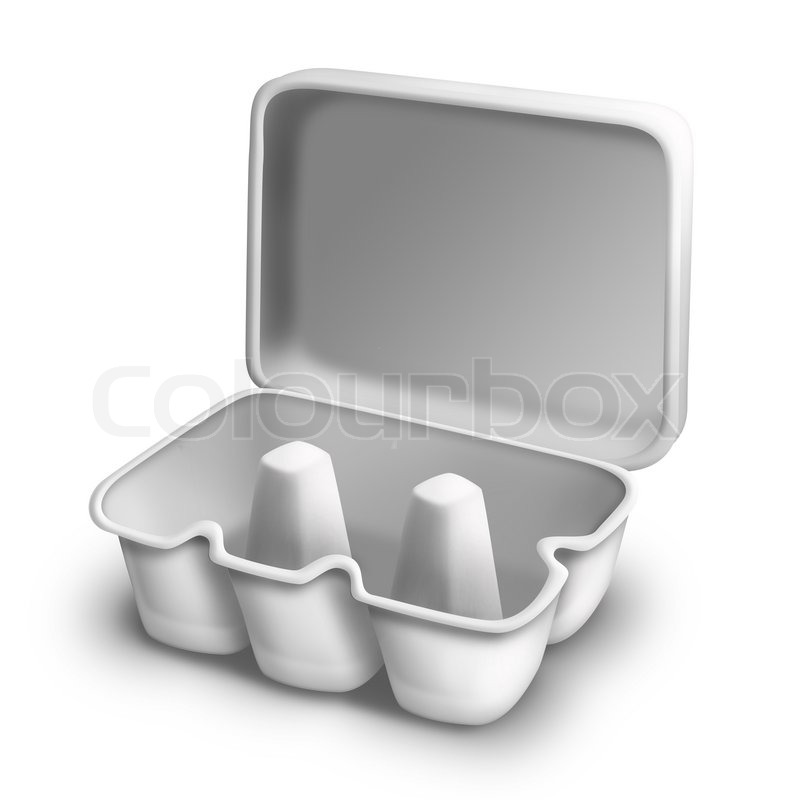 Illustrated Empty Egg Carton | Stock Photo | Colourbox
