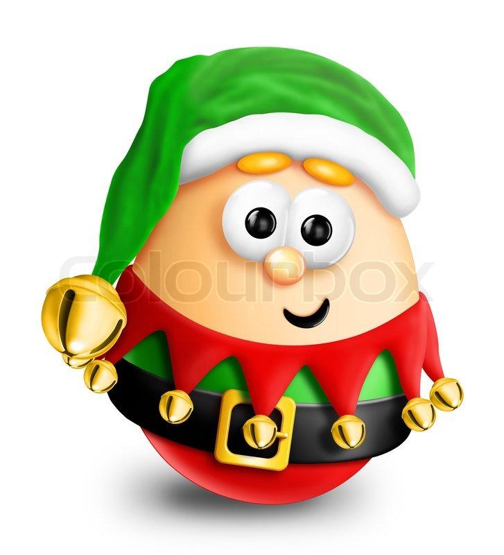 Whimsical Cartoon Christmas Egg Elf Stock Photo Colourbox