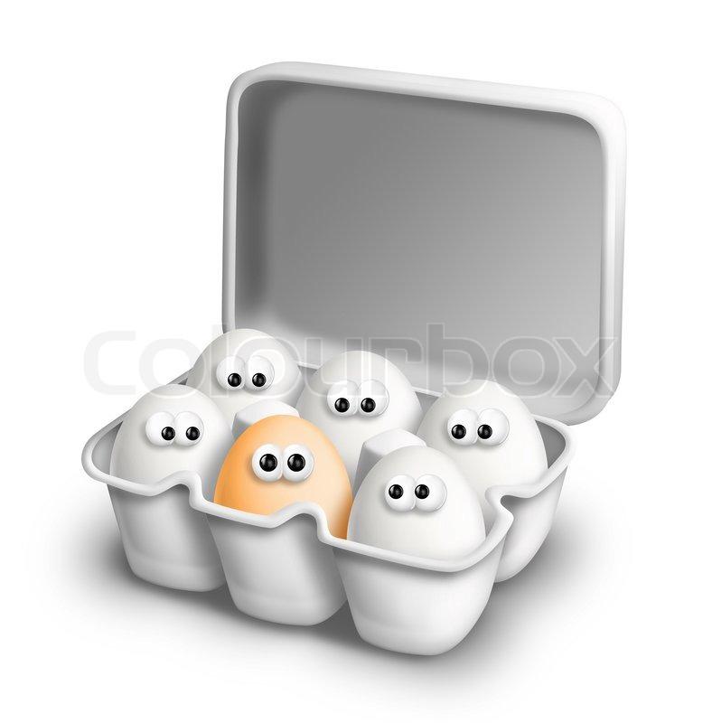 funny cartoon eggs in egg carton stock photo colourbox