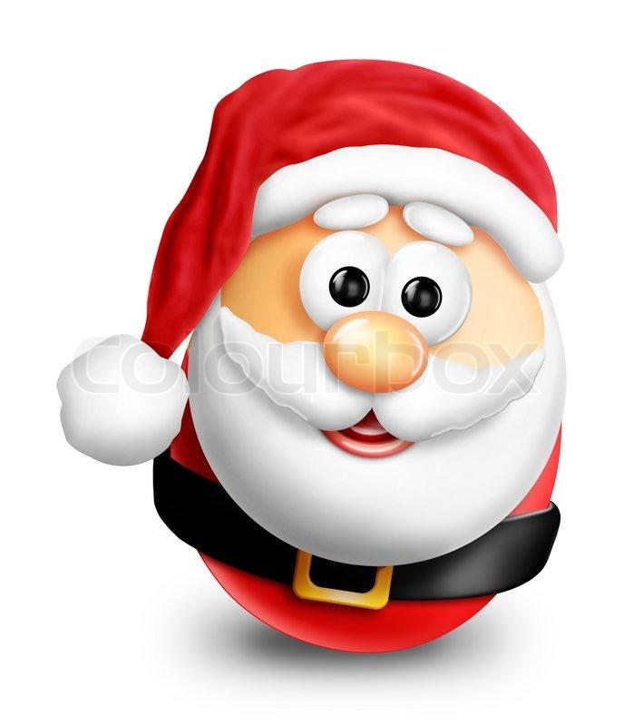 Whimsical Cartoon Christmas Egg Santa | Stock Photo | Colourbox