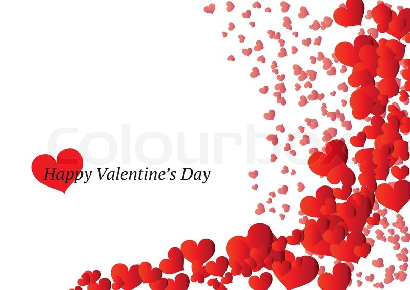 beautiful valentine's day card  stock vector  colourbox, Beautiful flower