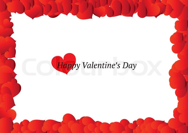 Beautiful Valentines Day Frame Stock Vector Colourbox