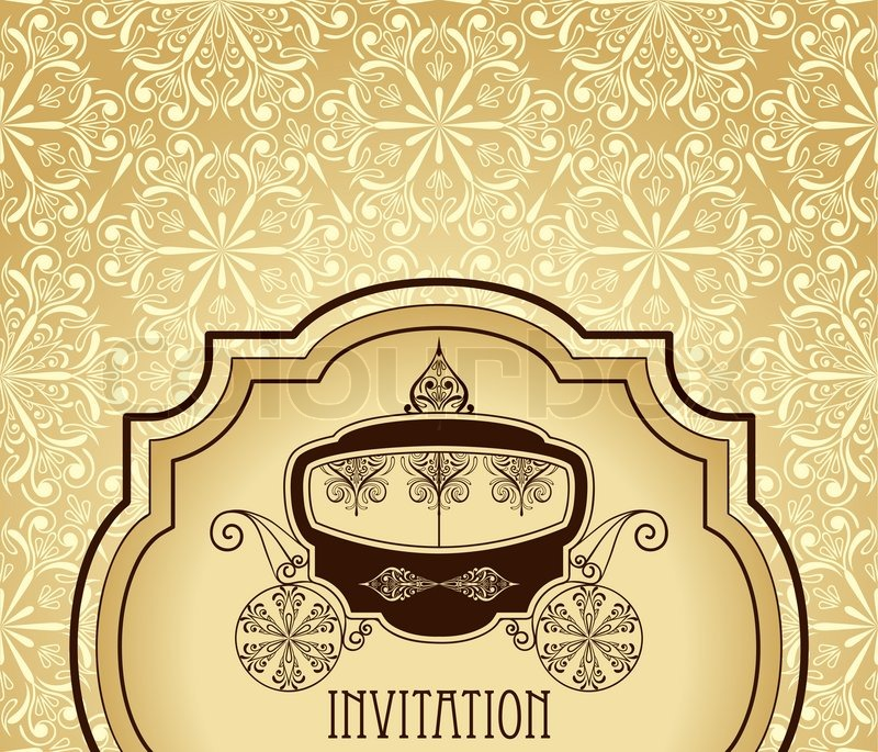 Vector vintage wedding invitation stock vector colourbox stopboris Gallery