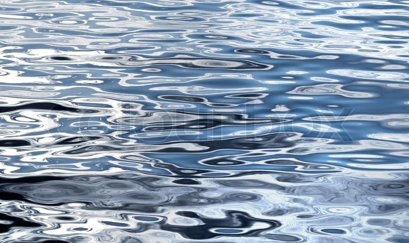 Lake water texture with bright reflections | Stock Photo