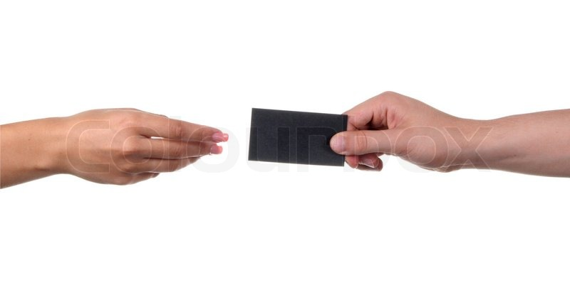 Businessmans hand holding blank paper business card stock photo businessmans hand holding blank paper business card stock photo colourmoves