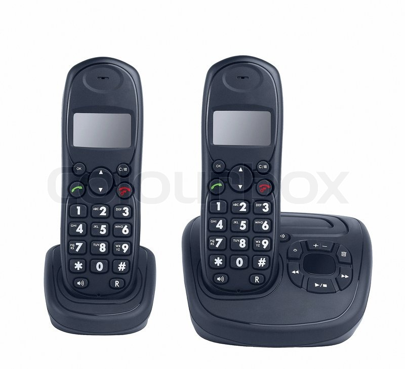A Modern, Cordless Home Phones, Stock Photo