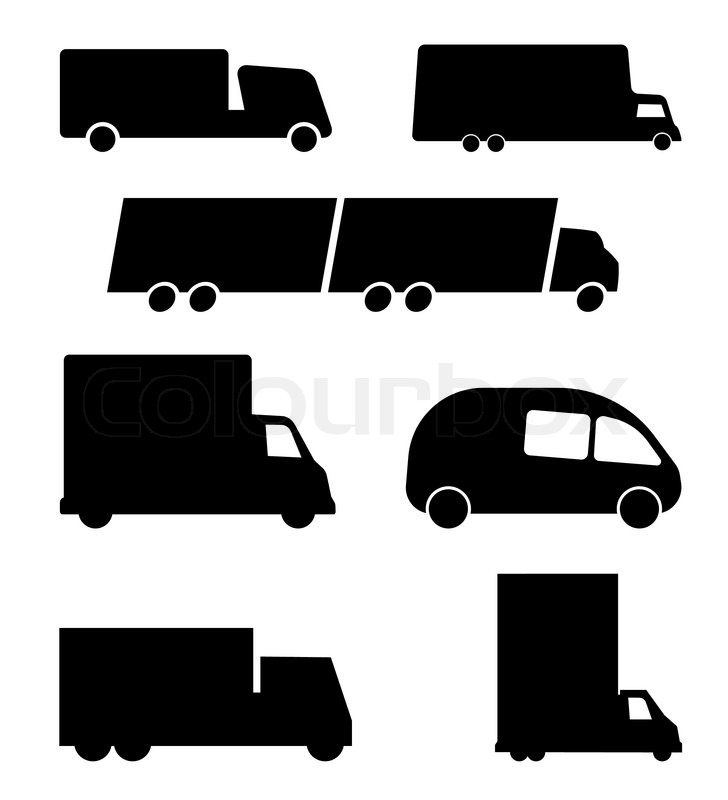 Different truck symbols | Stock Vector | Colourbox