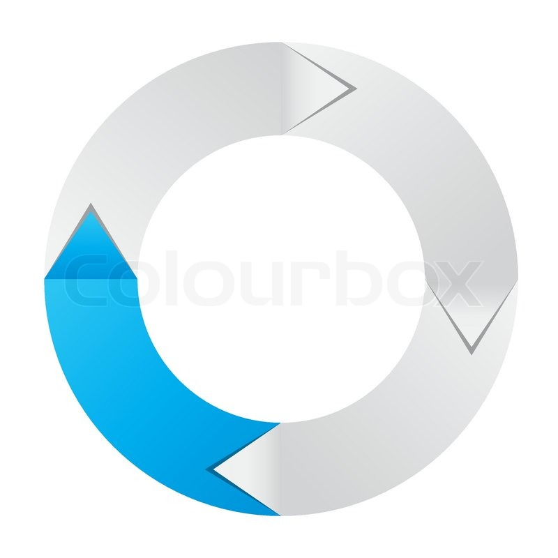 concept of colorful circular banner with arrows for different