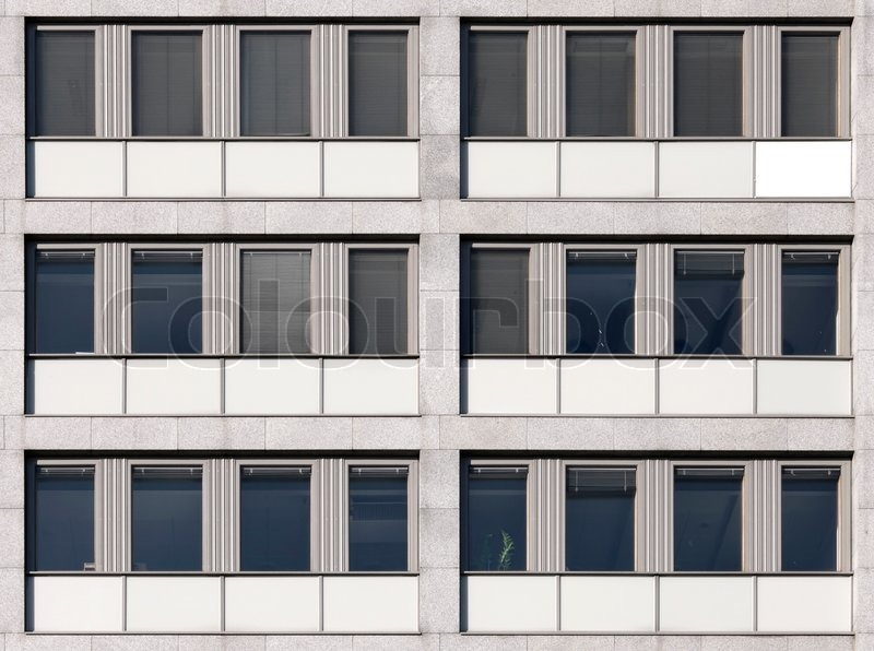 Modern European Office Building Wall Texture Stock Photo