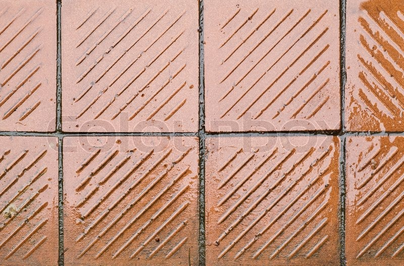 Shining wet tile floor, stock photo