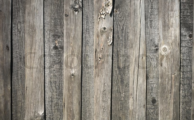 Texture Of Gray Weathered Wooden Lining Stock Photo