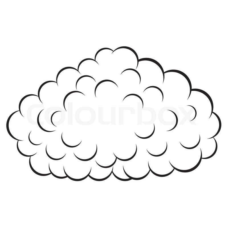 Cloud , vector illustration | Stock Vector | Colourbox