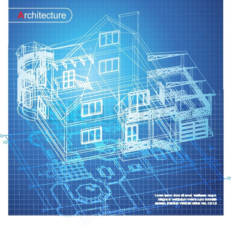 Wonderful Architecture Design Blueprint Vector Of Architectural