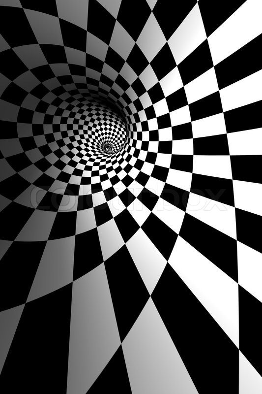 Stock image of 'Spiral illusion'