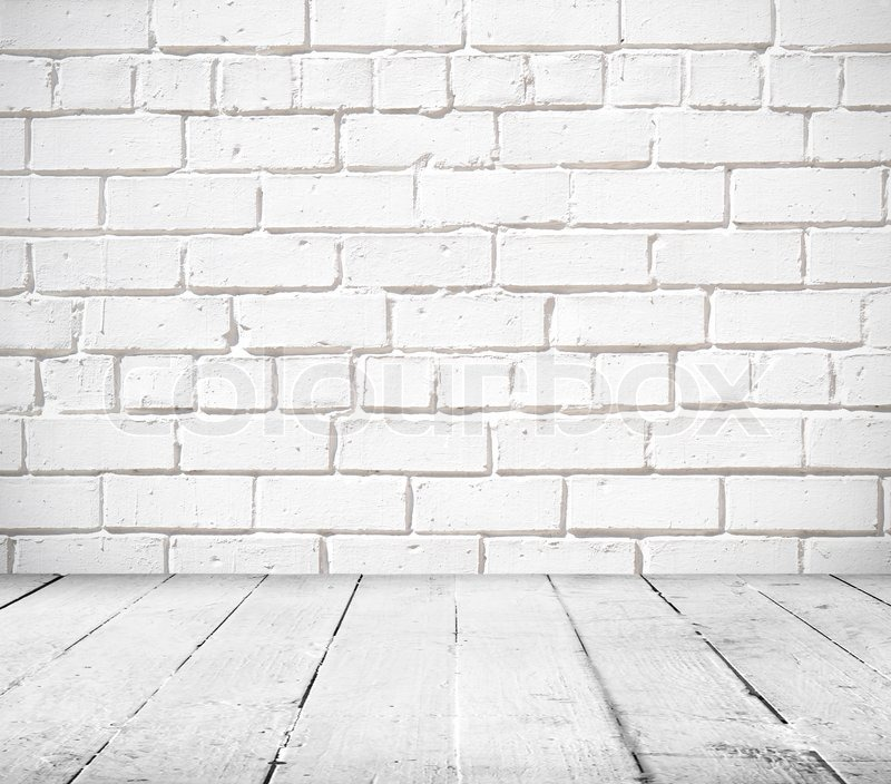 empty abandoned interior vintage background of brick stone wall and