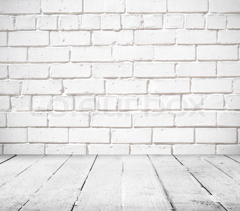 Weiße Steinwand leer verlassen interior, vintage hintergrund backstein steinwand und