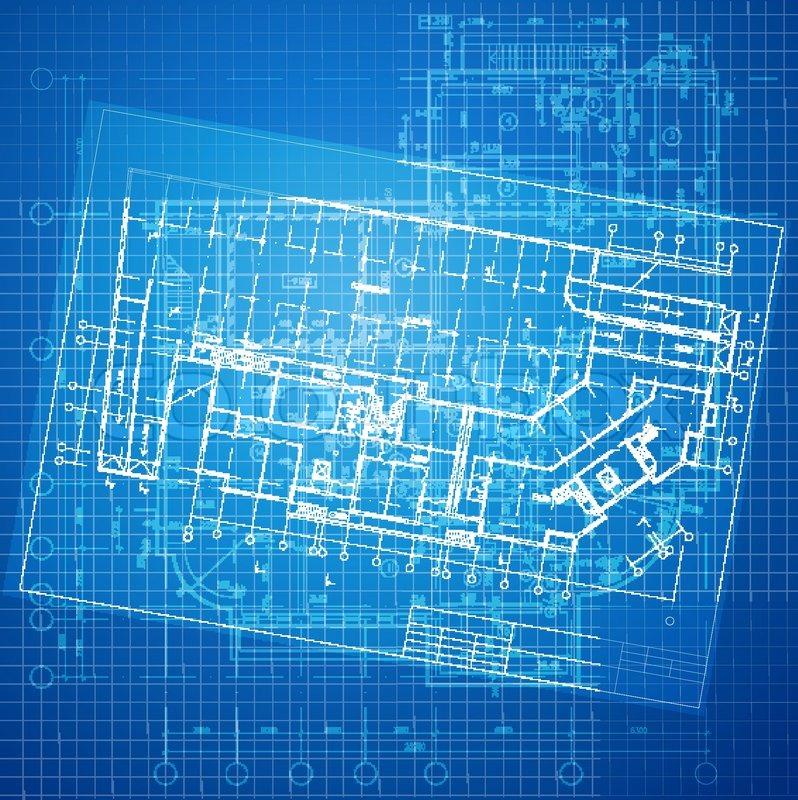 Urban blueprint vector architectural background part of part of architectural project architectural plan technical project drawing technical letters design on paper construction plan stock vector malvernweather Gallery