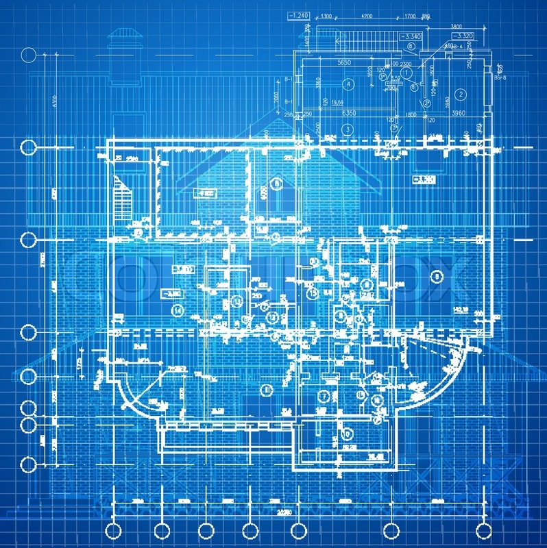 Urban blueprint vector architectural background part for Create blueprints online free