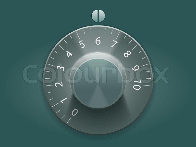Volume Control Knobs Vector Illustration Stock Vector