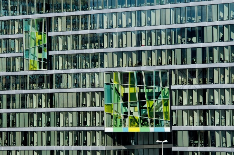 Office building facade stock photo colourbox for Modern office building facade design