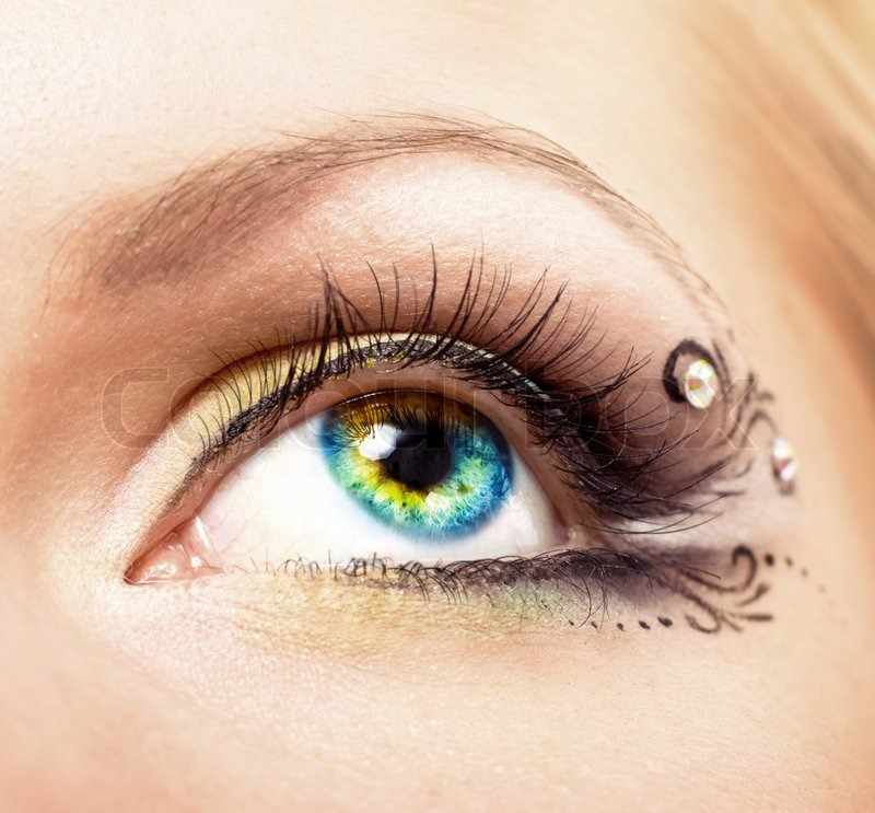 Stock image of 'Beautiful eye with makeup'