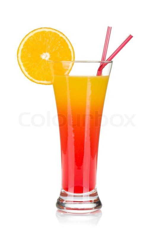 A Red Mexican Drink Mix With White Tequils