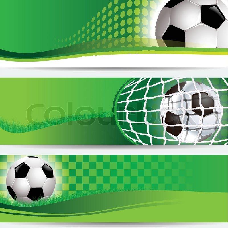 Обои футбольные баннера