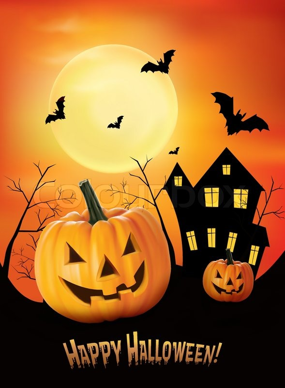 Halloween Background Vector Stock Vector Colourbox