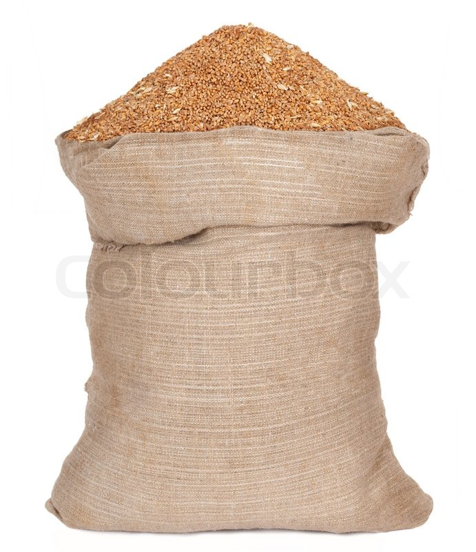 Bag with wheat grain | Stock Photo | Colourbox