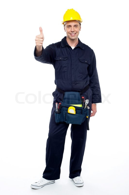 Young Smiling Industrial Engineer Stock Photo