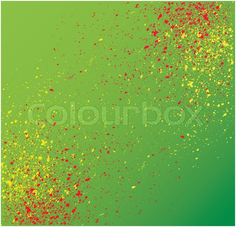 grungy plaint or ink splatter layout in vector format with copyspace ...