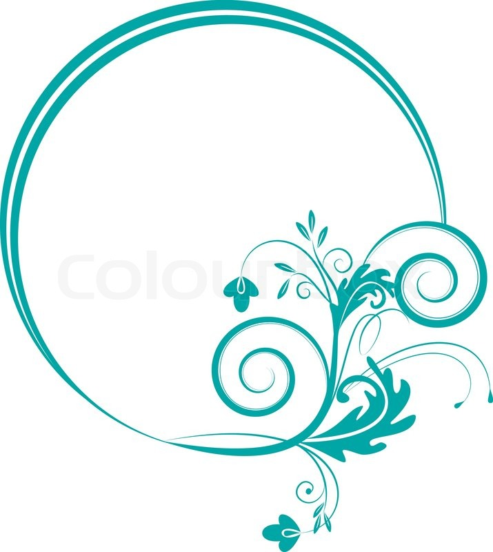 Round frame with decorative branch vector illustration stock round frame with decorative branch vector illustration vector junglespirit Gallery