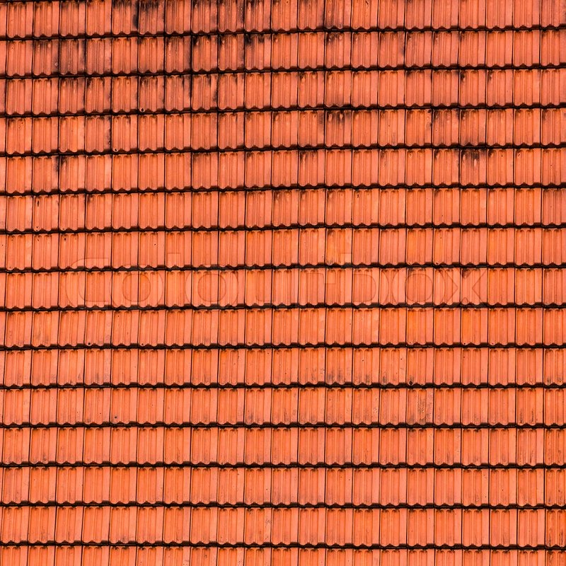 Tiled Roof Texture Stock Photo Colourbox
