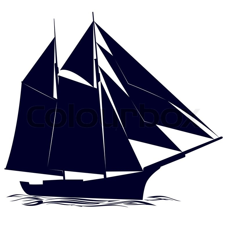"""Contour of an old sailing ship"" 