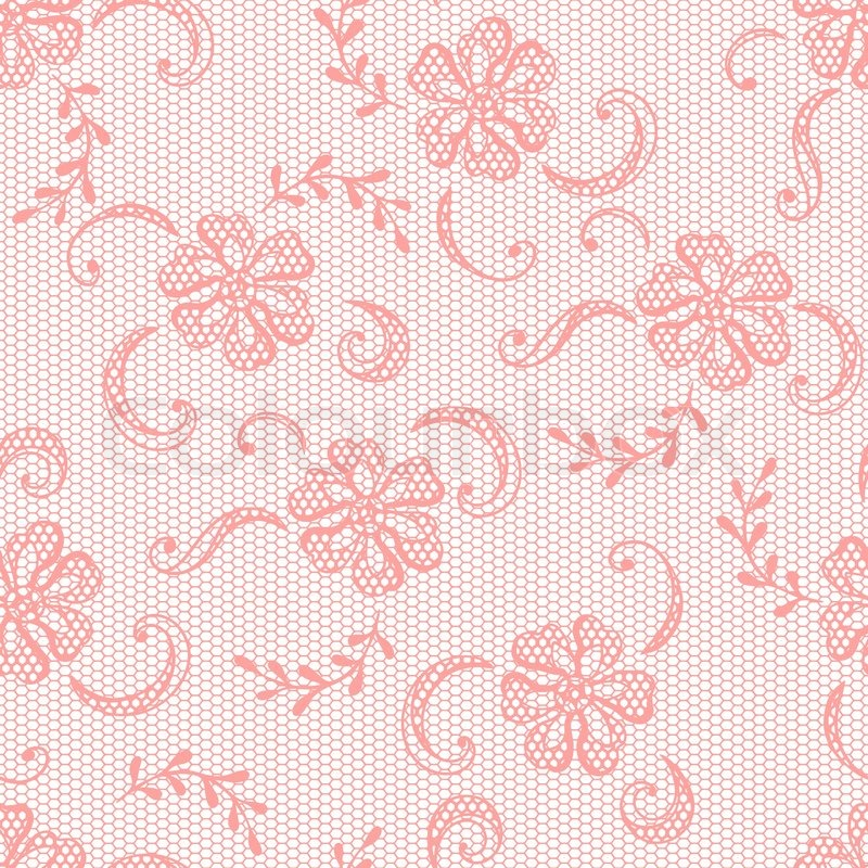 Vintage lace background, ornamental flowers Vector texture ...