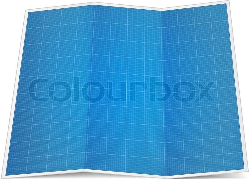 Folded blueprint paper stock vector colourbox folded blueprint paper vector malvernweather Images