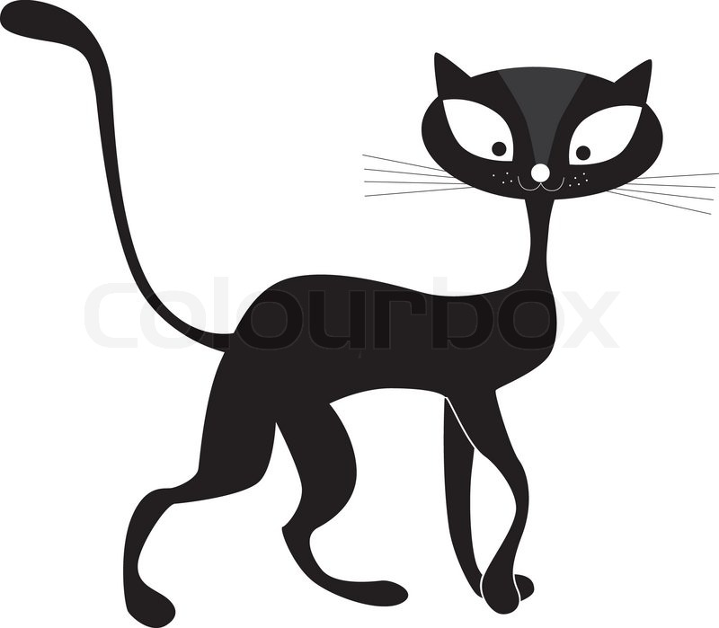 One Line Text Art Cat : Animals art background beautiful black cartoon cat