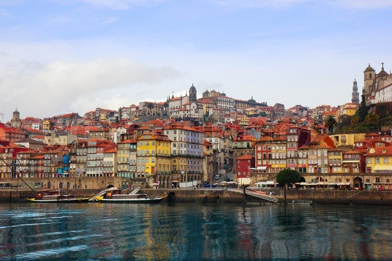 View Of Old Town Of Porto Portugal From Douro River Stock Photo Colourbox