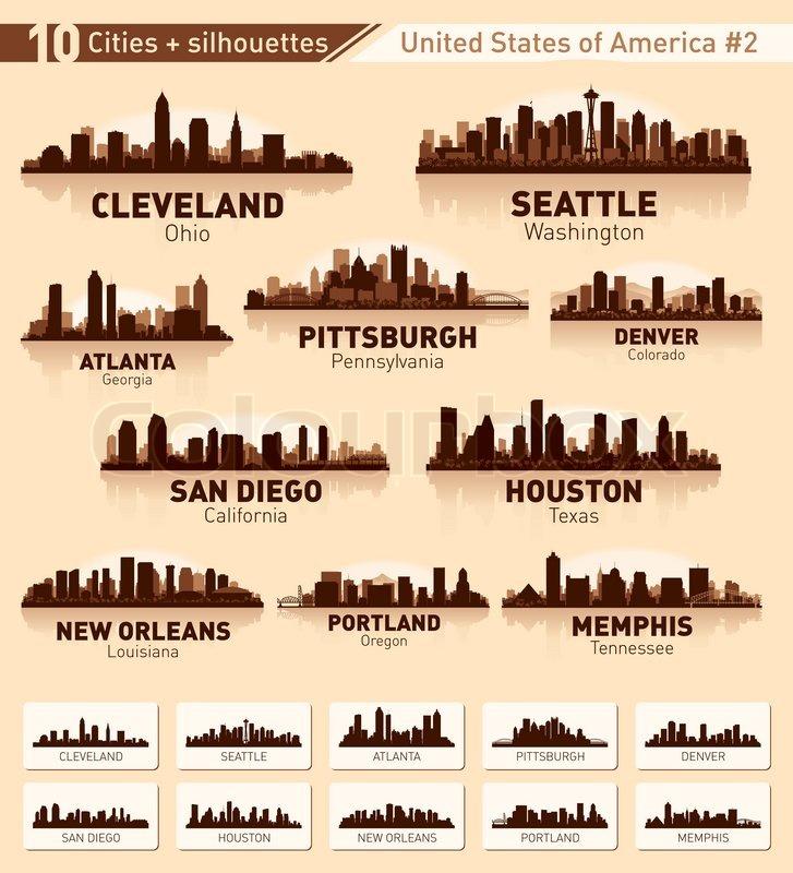 skyline city set 10 cities of usa  2